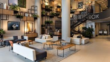 Dans cet hôtel Ibis, c'est le nouveau design d'intérieur baptisé Plaza, qui décore l'établissement.