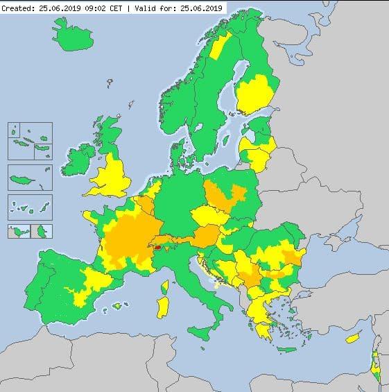 Une grande partie de l'Europe est touchée par la canicule.