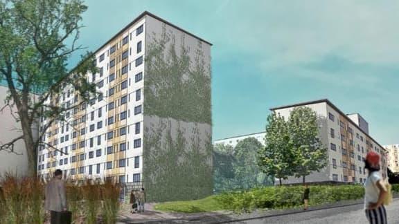 La  résidence HLM de la Saussaie à Vitry-sur-Seine est passée de la catégorie énergétique E à la plus performante, A.