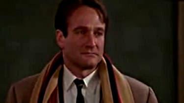 """L'acteur Robin Williams dans """"Le Cercle des poètes disparus"""", film de 1989. Il mort ce lundi, probablement d'un suicide."""