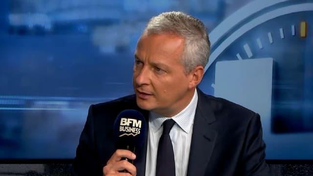 Bruno Le Maire juste avant son intervention devant le patronat