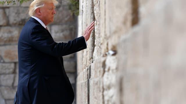 Donald Trump devant le mur des Lamentations, le 22 mai 2017