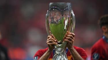 Le trophée de la Supercoupe d'Europe, à Istanbul le 14 août 2019