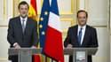 Mariano Rajoy et François Hollande, ce mercredi lors d'une conférence de presse à l'Elysée.