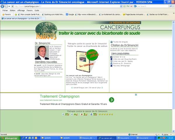 La thérapie propose de traiter le cancer avec du bicarbonate de soude.