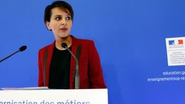 La ministre de l'Education nationale Najat Vallaud-Belkacem