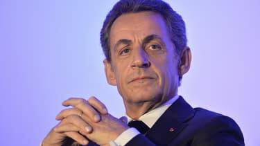Nicolas Sarkozy lundi 9 novembre lors d'un meeting près d'Angers.