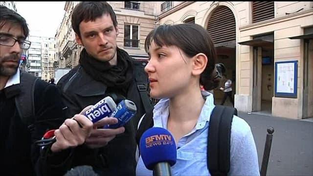 Aurélie, témoin de l'agression d'un jeune militant d'extrême gauche, à Paris le 6 juin 2013.