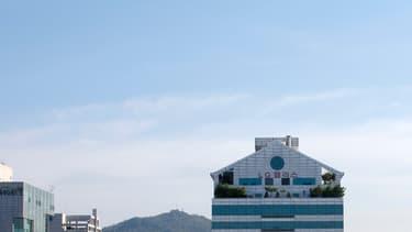 Vue de Séoul. (illustration)