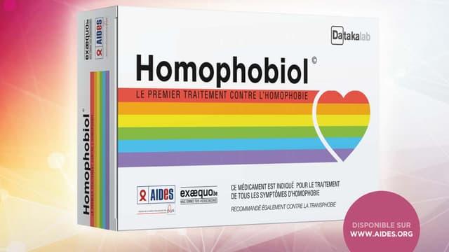 """""""Homophobiol"""" est une nouvelle campagne contre l'homophobie lancée par Aides et Ex Aequo."""