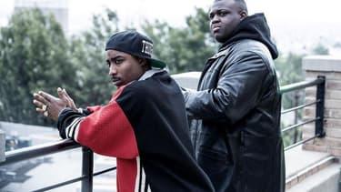 """Marcc Rose dans le rôle de Tupac Shakur et Wavyy Jonez dans le rôle de Christopher """"Biggie"""" Wallace"""