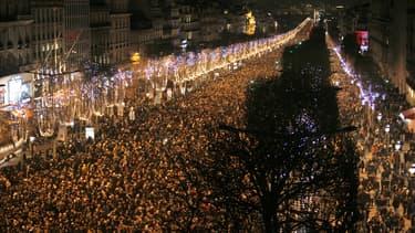 La fête sur les Champs-Elysées en 2014