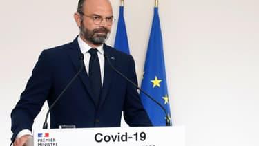 Edouard Philippe lors de sa conférence de presse, le dimanche 19 avril 2020 -