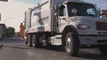 """Au Québec, la société Derichebourg Environnement a équipé ses 80 camions de la technologie """"start-stop"""" qui consomment 30% de carburant en moins."""