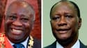 Les Etats voisins de la Côte d'Ivoire réfléchissent aux moyens d'amener Laurent Gbagbo (à gauche) à céder le pouvoir à Alassane Ouattara (à droite) lors d'un sommet extraordinaire de la Communauté économique des Etats d'Afrique de l'Ouest (Cedeao) ce vend