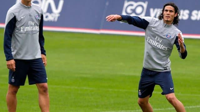 Ibrahimovic et Cavani à l'entraînement