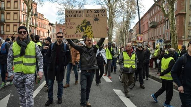 """Des """"gilets jaunes"""" manifestent à Toulouse (photo d'illustration)"""
