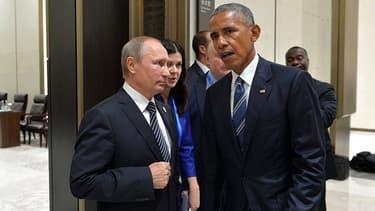 Vladimir Poutine et Barack Obama, au sommet du G20 à Hangzhou.