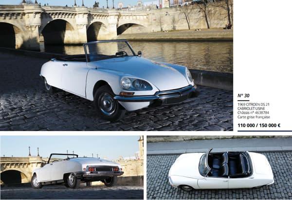 Cette DS 21 cabriolet de 1969 est estimée entre 110.000 et 150.000 euros