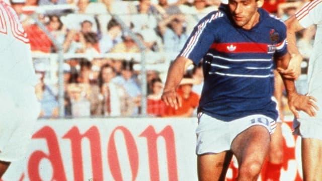 Michel Platini lors de l'Euro 1984 remporté par les Bleus.