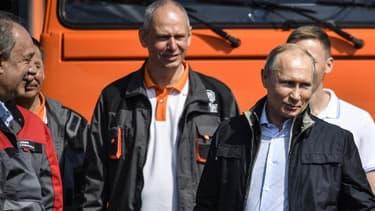 Vladimir Poutine inaugure le pont entre la Crimée et la Russie le 15 mai 2018.