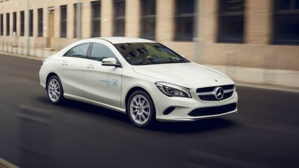 Cette Mercedes CLA est un des modèles proposés en autopartage à Chicago.