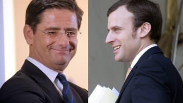 Nicolas Dufourq et Emmanuel Macron estiment tous deux que la vie des entrepreneurs est plus dure que celle des salariés.