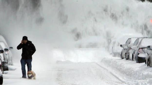 """Après """"Hercules"""" en janvier 2014, New York s'apprête à affronter une nouvelle tempête de neige, lundi 26 janvier 2015."""