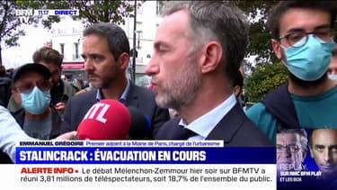 """Stalingrad: Emmanuel Grégoire annonce vouloir trouver """"une solution pérenne"""" pour que l'évacuation des toxicomanes """"ne reconstitue pas une colline du crack"""" ailleurs dans Paris"""