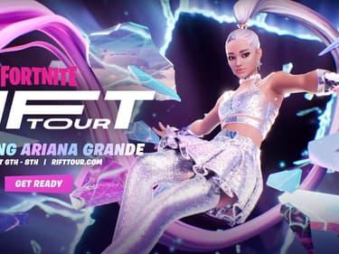 L'avatar d'Ariana Grande dans le jeu Fortnite