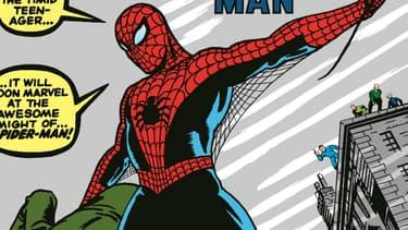 La première apparition de Spider-Man dans une bande dessinée
