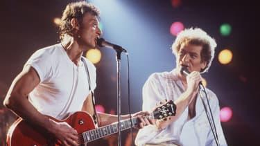 Johnny Hallyday, avec Eddy Mitchell.