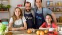 """Guillaume Bouchède (Dominique); Xavier Robic, (Olivier); Luna Bevilacqua (Jade) et Lila Fernandez (Clotilde) font leur entrée dans """"Parents mode d'emploi"""" sur France 3."""