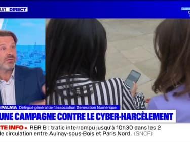 """Cyberharcèlement: le délégué général de l'association Génération Numérique estime que """"c'est un sujet d'éducation"""" plus que de réseaux sociaux"""