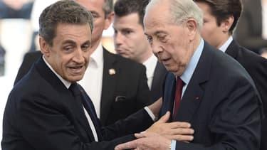 Nicolas Sarkozy et Charles Pasqua