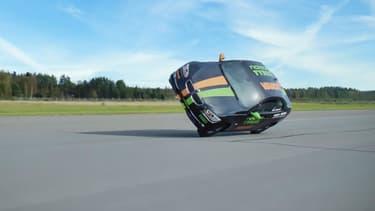 Le pilote finlandais Vesa Kivimäki  vient de battre le record du monde de vitesse sur deux roues.