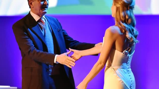 Aldo Rebelo et Fernanda Lima au congrès de la FIFA