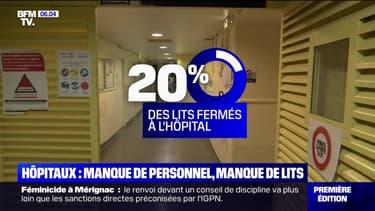 À l'hôpital, 1 lit sur 5 est actuellement fermé, faute de soignants