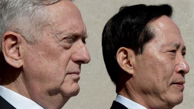 Le secrétaire américain à la défense James Mattis et son homologue sud-coréen le 30 août 2017 à Washington