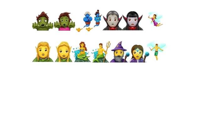 De nouveaux emojis axés sur le fantastique font leur apparition.