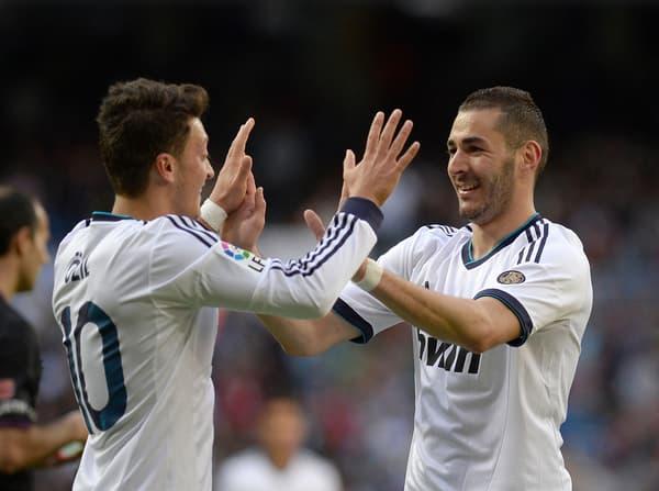 Ozil et Benzema au Real en 2013