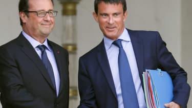 Manuel Valls et François Hollande, le 15 août dernier