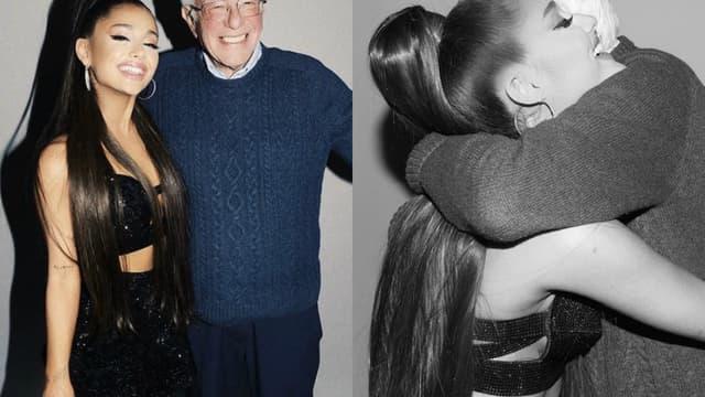 Ariana Grande et Bernie Sanders