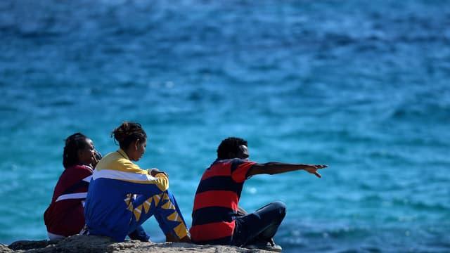 Un groupe de migrants arrivés sur l'île de Lampedusa. (Photo d'illustration)