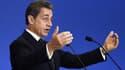 Nicolas Sarkozy le 13 décembre 2014 lors de son discours aux cadres du parti, au siège de l'UMP.