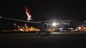 Le Boeing 787 Dreamliner de Qantas qui a relié cette nuit Londres depuis Perth sans escale en 17 heures et 20 minutes.