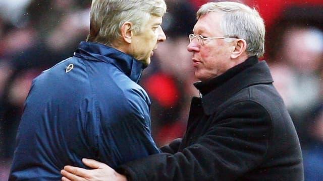 Arsène Wenger et Alex Ferguson