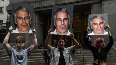 Une manifestation contre Jeffrey Epstein