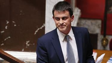 Le Premier ministre Manuel Valls à l'Assemblée, lors de son discours de politique générale le 8 avril.