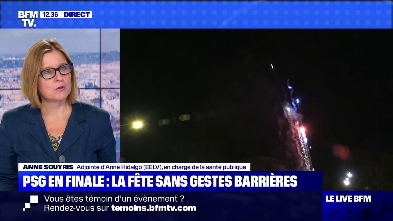 """Liesse sur les Champs-Elysées: l'adjointe à la santé Anne Souyris déplore le manque """"d'anticipation"""" de la préfecture de police"""